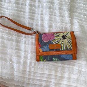 Vera Bradley Jazzy Blooms (retired) Wallet/Wrislet